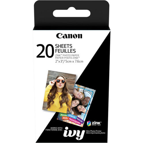 IVY Mini Photo Printer 2 x 3 Rose Gold With ZINK 2 x 3 - 20 Pack Paper