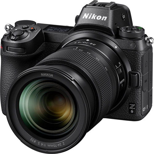 Nikon Z6 Mirrorless Kit w/ NIKKOR Z 24-70mm f/4 0 S Lens & NIKKOR FTZ Mount  Adapter