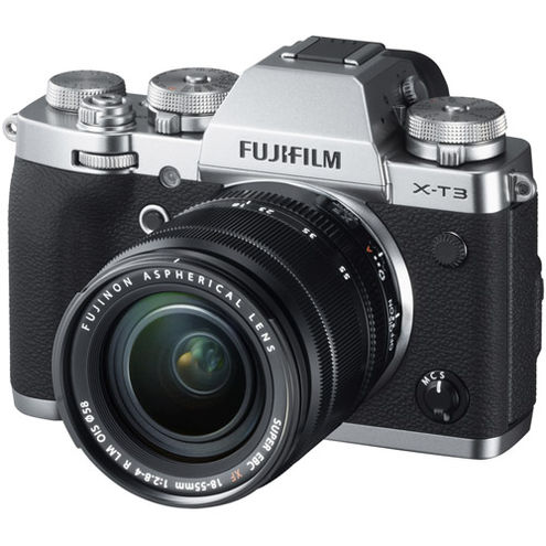 X-T3 Mirrorless Kit Silver w/ XF 18-55mm f/2.8-4.0 R LM OIS Lens