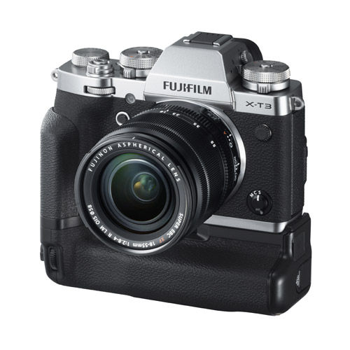 Fujifilm X-T3 Mirrorless Body Silver & VG-XT3 Grip