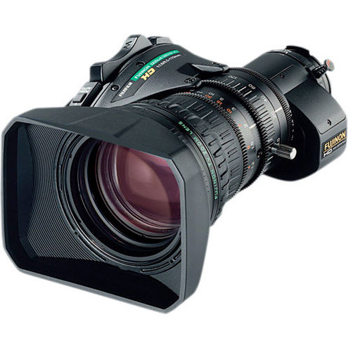 Blackmagic URSA Broadcast Camera with Fujinon XA20sX8.5BERM-K3 MS-01 SemiServo Rear Ctrl Kit