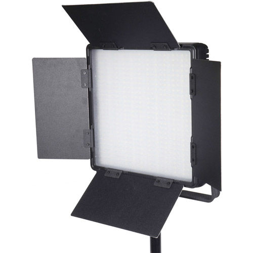 LG-600CSCII LED Light Bicolor with V Mount, Barndoors, WiFi, Diffuser, DC Adapter and Filters