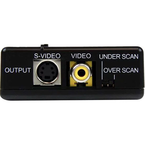 VGA2VID High Resolution VGA to Composite (RCA) or S-Video Converter - PC to TV