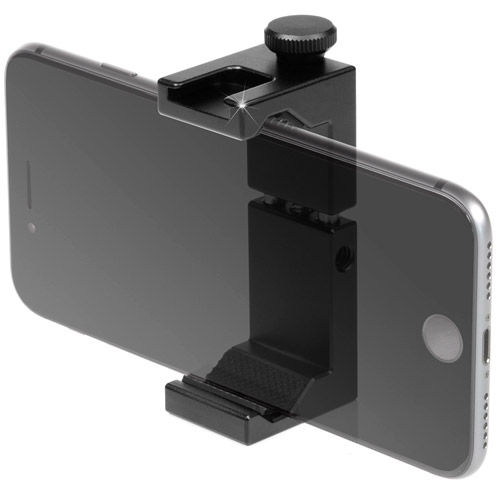Smartphone Aluminum Clamp Tripod Mount with Cold Shoe