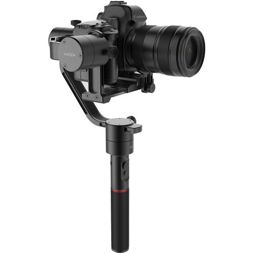 MOZA Air Gimbal Stabilizer with Time-Lapse Incl. Bonus Thumb Controller, Tripod and QR Plate