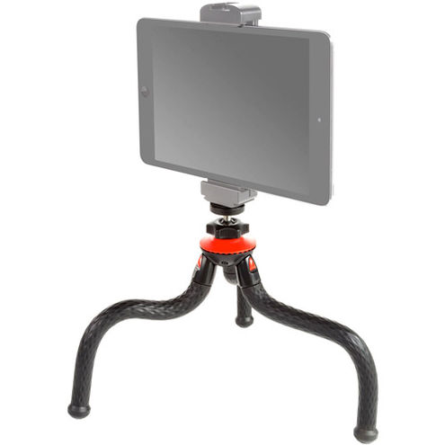 Tripod Flexible Grip With Ball Head Plus Smartphone Aluminum Clamp Mount With Cold Shoe