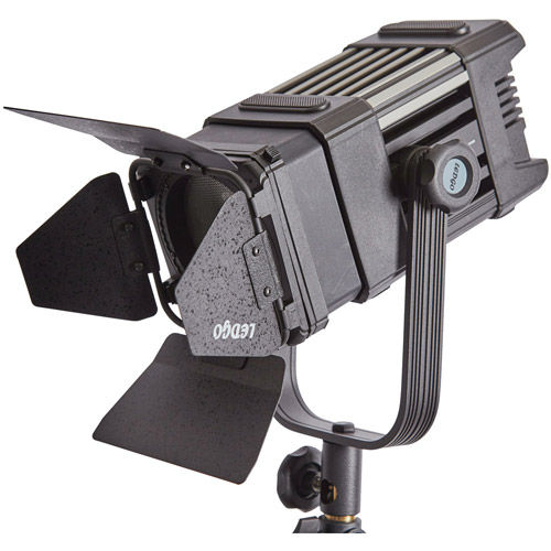 2 x LG-600SC LED Lights with LG-D300 Fresnel 3x Mantis Light Stands, Stand Bag and Hard Case