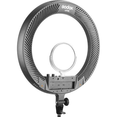 LR160 LED Ring Light, Black