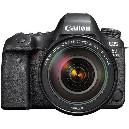 EOS 6D Mark II w/24-105mm f/4 IS II USM Lens Wth Premium Acc Kit Inc. 128GB Memory Card