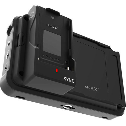 AtomX Sync Modular Expansion for Ninja V for wireless timecode, genlock and Bluetooth ctrl.