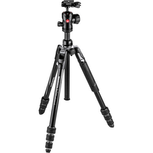Befree Advance Aluminum 4-Section Kit Black With FREE Element 5 Section Monopod Black