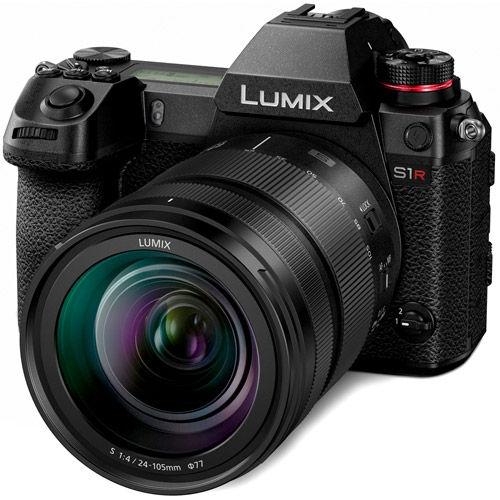 Lumix DC-S1R Mirrorless Kit w/ Lumix S 24-105mm f/4.0 Macro OIS L-Mount Lens