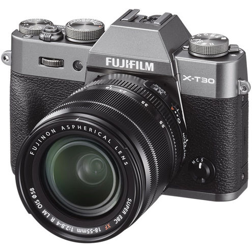 X-T30 Mirrorless Kit Charcoal Silver w/ XF 18-55mm f/2.8-4.0 R LM OIS Lens