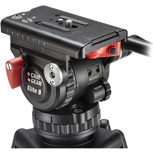 Elite 8 CFMLGS Video Tripod Kit with Elite 8 Cast Aluminum 75mm Fluid Head,Single lock Tripod