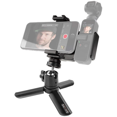 Security Bracket Connection with Selfie Grip