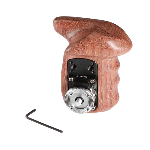 Left Side Wooden Grip with Arri Rosette 1