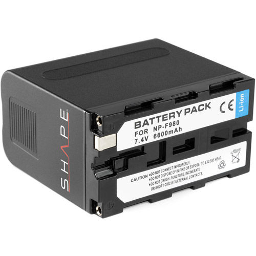 NP-F980 lithium-ion battery pack 7.4v 6600 mAh