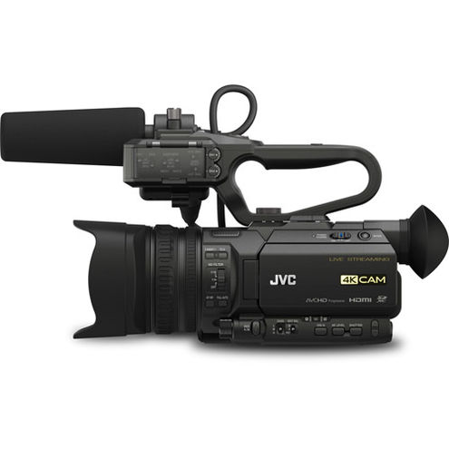 GY-HM250 4KCam Streaming Camcorder w/ QAN0067-003 Microphone