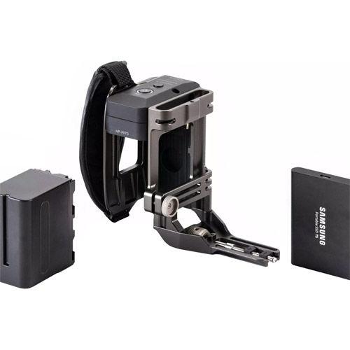 Tilting Side Focus Handle Type I (F970 Battery) - Tilta Grey