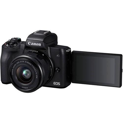 EOS M50 Mirrorless Camera w/ EF-M 15-45mm With Zhiyun Crane M2 Stabilizer + Saramonic Blink 500