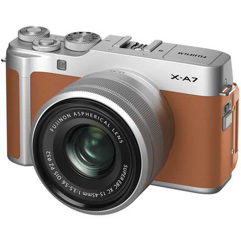 X-A7 Mirrorless Kit Camel w/ XC f/3.5-5.6 OIS PZ Lens