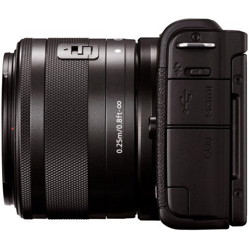 EOS M200 Mirrorless Camera with 15-45 Kit Black