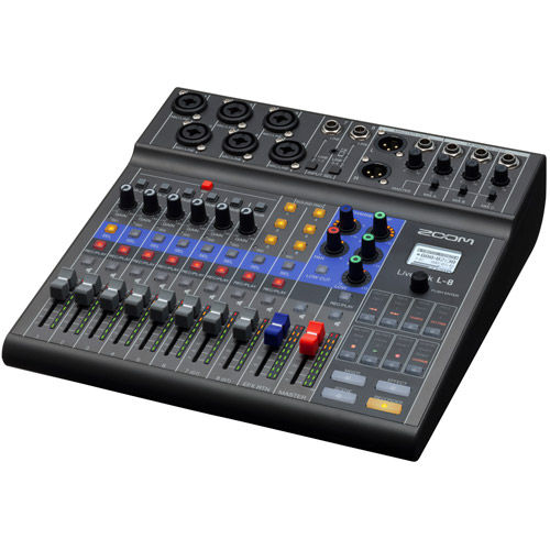 LiveTrak L-8, 8-Channel Mixer (6 combo, + 2 TS)