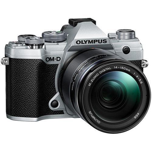 OM-D E-M5 Mark III Mirrorless Kit Silver w/ M.Zuiko ED 14-150mm f/4-5.6 II Lens