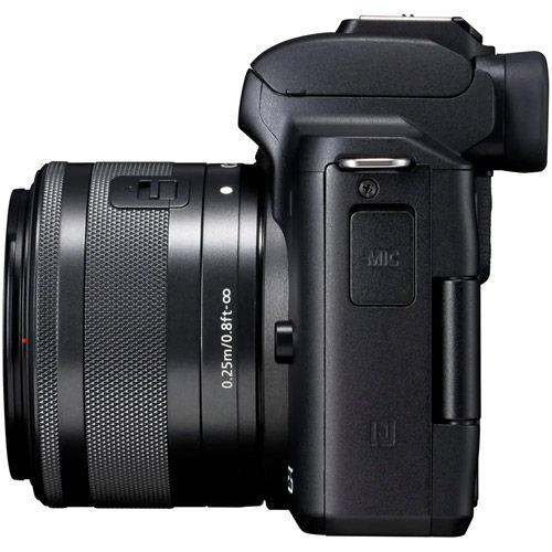 EOS M50 Mirrorless Camera w/ EF-M 15-45mm w/ EF-M 28mm f/3.5 Macro IS STM Lens