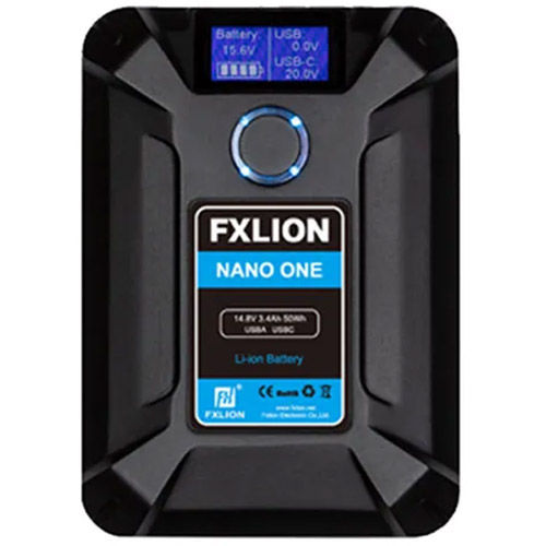 2 x Nano One V-lock Battery 14.8V,50wh Batteries with 1 x D-tap Fast Charger 16.8V/4A