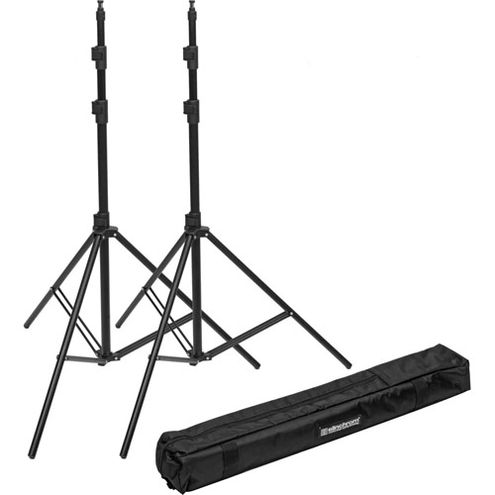 2 x QS II Flash (Bowens Mount) 600ws 2.4G with 2 x 85-235cm Stands, 1 x Carrying Bag