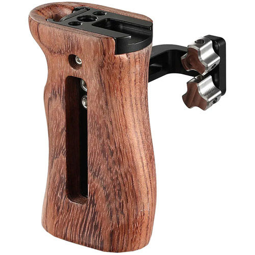 Cage Kit for ZCam E2C  Camera with Wooden Universal Side Handle, Double Ball Head