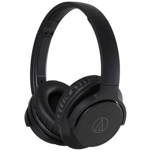 ATH-ANC500BTBK QuietPoint Wireless Over-Ear Noise- -Canceling Headphones (Black)
