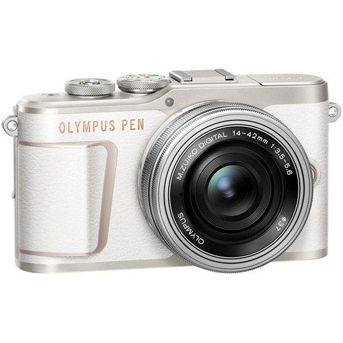 PEN E-PL10 Mirrorless Kit White w/ 14-42mm EZ Lens (inc. Bag, 16GB Class 10 SD Card, Lens Cloth)