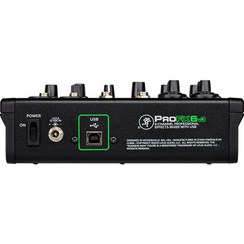 6 Channel Professional Effects Mixer with USB