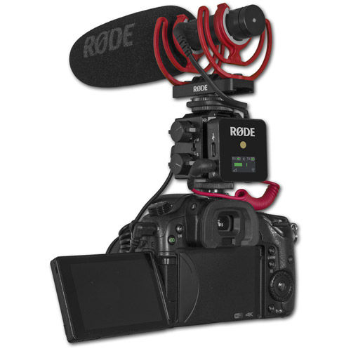 DXA-GO 2-Channel Audio Adapter / Holder or GO Wireless Receivers & Rode Go Wireless Mic