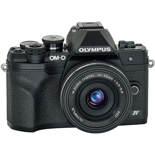 OM-D E-M10 Mark IV Mirrorless Kit Black w/ 14-42mm EZ Lens