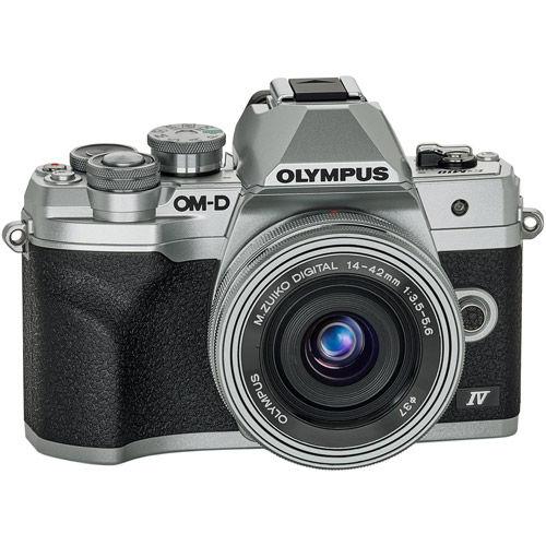 OM-D E-M10 Mark IV Mirrorless Kit Silver w/ 14-42mm EZ Lens
