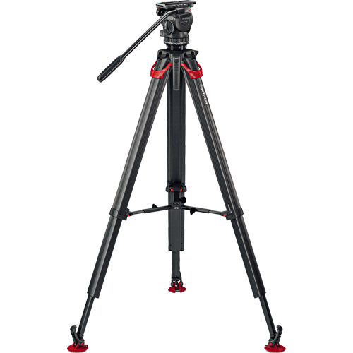 aktiv8 Fluid Head (S2068S) + Tripod Flowtech75 MS with Mid-Level Spreader and Padded Bag