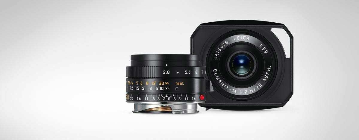 Leica 28mm f/2 8 Elmarit-M ASPH Black Wide Angle Lens