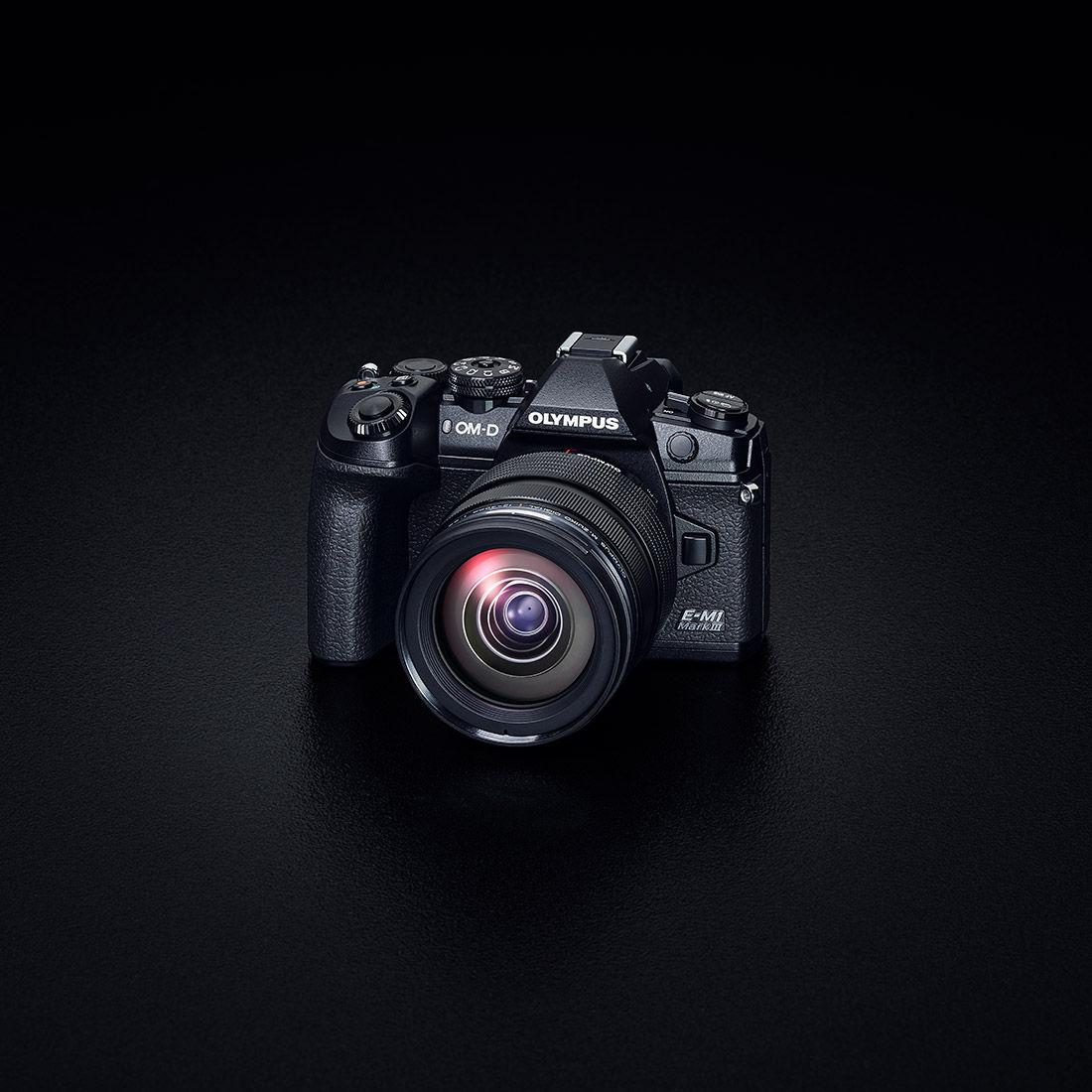 Product image of camera on black background