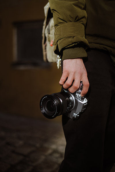image of hand holding camera