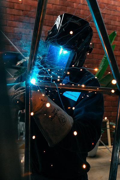 sample image of welder portrait