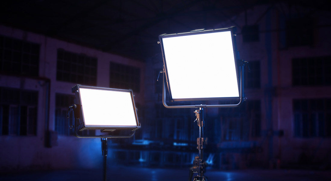 image of lights being used in studio