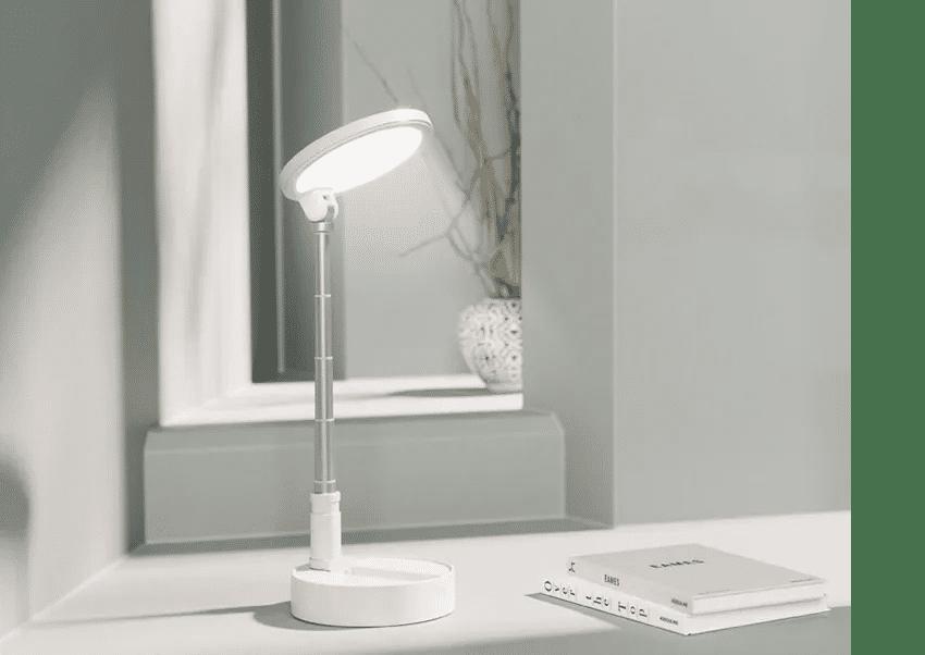 image of lamp on desktop